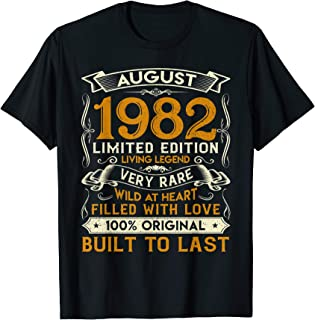 August 1982 Shirt 38 Years Old 38th Birthday Gifts T-Shirt