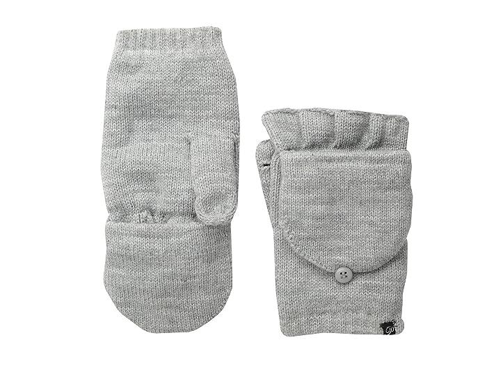 Plush Fleece-Lined Texting Mittens (Heather Grey) Dress Gloves