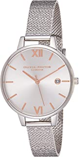 Olivia Burton Womens Quartz Watch, Analog Display and Stainless Steel Strap OB16DE01