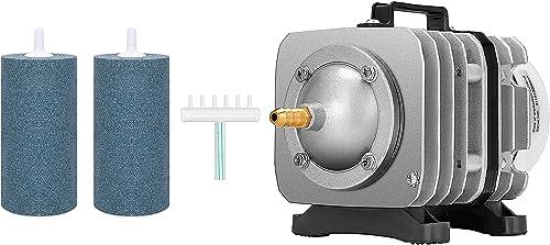 VIVOSUN Air Stone 2PCS 4 X 2 Inch Large Air Stone, and Air Pump 35W 50L/min with 6 Outlet