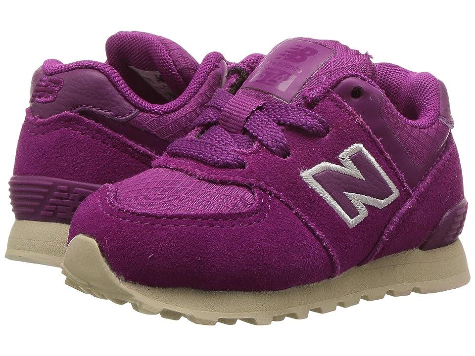 New Balance Kids KL574v1I (Infant/Toddler) (Purple/Tan) Girls Shoes