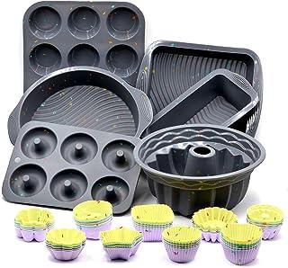 51PCS Silicone Bakeware Set Silicone Cake Molds Set For Baking, Including Baking Pan, Cake Mold, Cake Pan, Toast Mold, Muf...