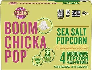Angie's BoomChickaPop Sea Salt Microwave Popcorn, (4) 3.29 Fresh-Pop Bowls