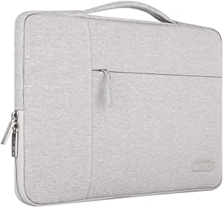 MOSISO Laptop Briefcase Handbag Compatible with 13-13.3 inch MacBook Air, MacBook Pro, Notebook Computer, Polyester Multifunctional Carrying Sleeve Case Cover Bag, Gray