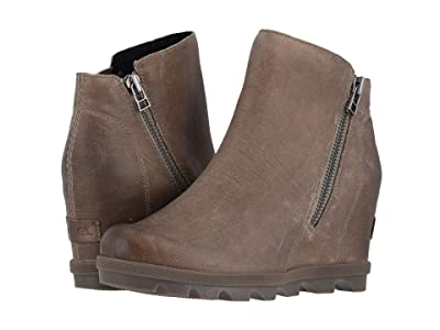 SOREL Joan of Arctic Wedge II Zip (Ash Brown) Women
