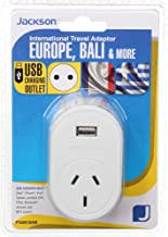 Jackson Outbound Travel Adaptor w/USB - Europe, (PTA8810USB)