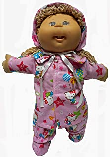 Doll Clothes Superstore 5 Piece Pink Flannel Winter Suit Fits Cabbage Patch Kid Dolls