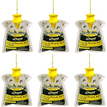 RESCUE! Disposable Summer Yellowjacket Trap, Outdoor - Eastern Time Zones(Pack of 6)