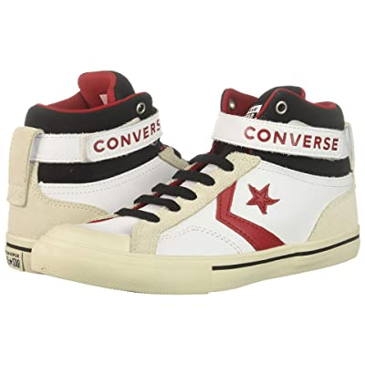 Converse Kids Pro Blaze Strap Hi (Little Kid/Big Kid) (White/Egret/Turtled) Boy