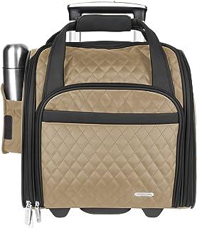 Travelon Wheeled Underseat Carry-On with Back-Up Bag, Khaki (Beige) - 6454-Khaki-One Size