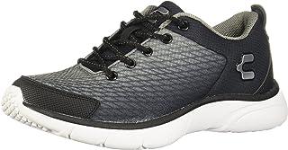 Charly 1029103 tenis de Running para Hombre, color Negro/Plata, 22.5