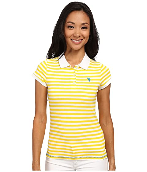 U T V Stripe ASSN Tonal POLO Neck Shirt S Slub rqw8xCFrv