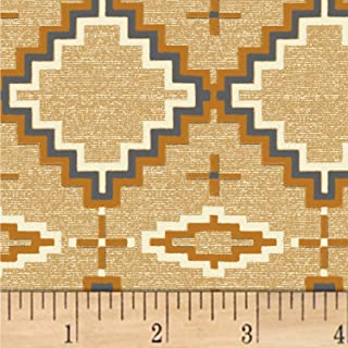 Windham Fabrics Whistler Studios Mountain Pass Saddle Blanket Fabric, Sand, Fabric By The Yard