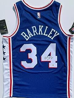 Charles Barkley Autographed Signed Memorabilia Philadelphia 76ers Nike Basketball Jersey Auto PSA/DNA