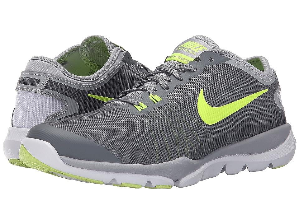 Nike Flex Supreme TR4 (Cool Grey/Volt) Women