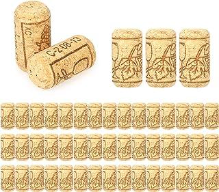 Decdeal 50pcs Bouchons Liege Lot 40 * 21mm Bouchons de Vin Neuf Utiliser pour Le Bricolage Décoration Bouchons en Liège Na...