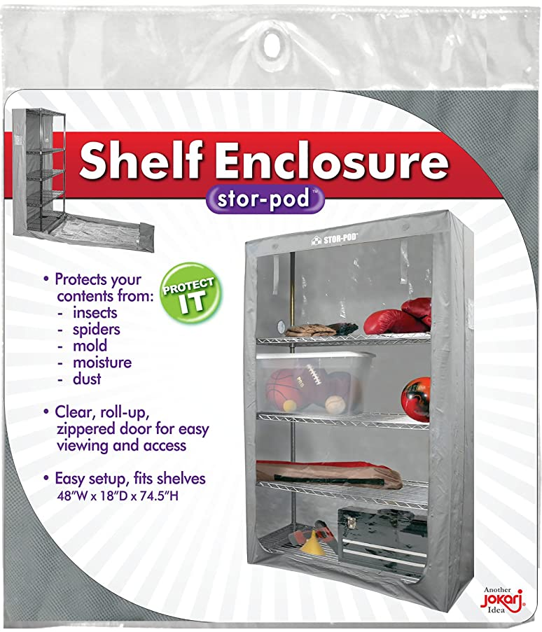 Storage Shelf Enclosure, Durable Wire Shelving Cover, Best Protection For Shelves, Keeps Out Dust, Dirt, Insects and Moisture, Keeps Your Items Guarded From External Elements