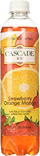 Cascade Ice Zero Cal Sparkling Water, Strawberry Orange Mango, 17.2 Fluid Ounce (Pack of 12)