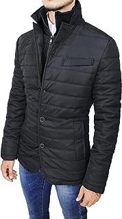 d96b0b74b3a959 Mat Sartoriale Giubbotto Piumino Uomo Nero Slim Fit Casual Giacca Giubbino  Invernale