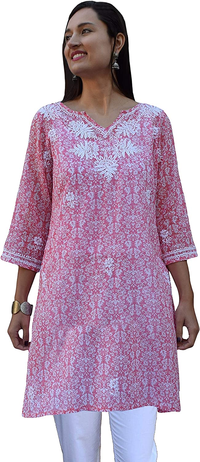 Ayurvastram Pure Cotton Light San Jose Mall weight Max 71% OFF Hand Embroidered Printed