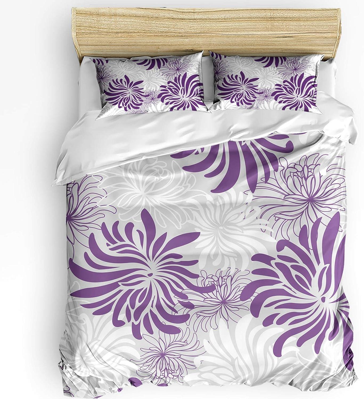FAMILYDECOR 再再販 Duvet アウトレット Cover Set Full Washed Microfiber Bedding -