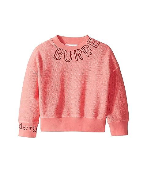 Burberry Kids Stencil Logo Print Cotton Sweatshirt (Little Kids/Big Kids)