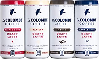 La Colombe Draft Latte Variety Pack - 9 Fluid Ounce, 12 Count - Core Flavors: Triple, Vanilla, Double, Mocha - Made With R...