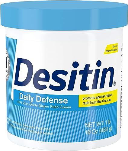 Desitin Daily Defense Baby Diaper Rash Cream with 13% Zinc Oxide, Barrier Cream to Treat, Relieve & Prevent Diaper Ra...