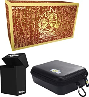 Totem World Yugioh Yugi's Legendary Decks TCG Holiday Kings of Game Collector's Box Set with a Black Totem Deck Box and Zipper Case