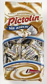 Pictolín Dulce de leche y nata sin azúcar - Caramelo de nata sabor dulce de leche