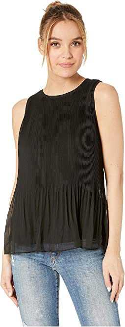 Pleated Chiffon Sleeveless Top KS4K4806