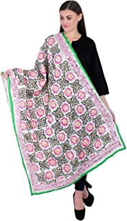 Indian Traditional Duppata Embroidered Sacrves Stole Dupatta Pakistani Stole