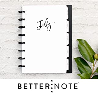 BetterNote July 2019- June 2020 Monthly Calendar with Tabbed Dividers for Disc-Bound Planners, Fits 8-Disc Circa Junior, Arc by Staples, Half Letter Size 5.5