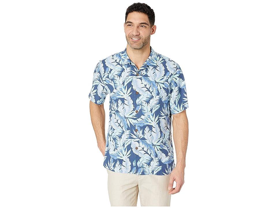Tommy Bahama Break Wave Fronds Hawaiian Camp Shirt (Ocean Deep) Men's Short Sleeve Button Up