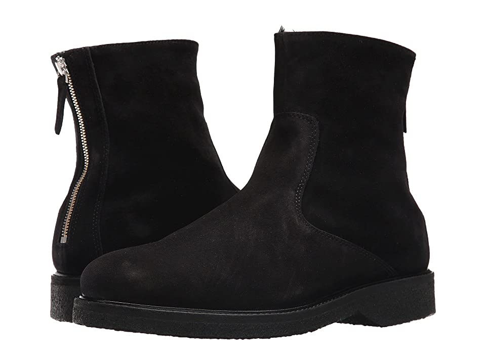 WANT Les Essentiels Stevens Shearling Lined Crepe Sole Boot (Black Suede) Men