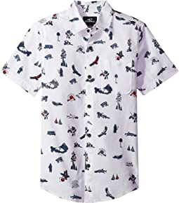 O'Neill Kids - Squawker Short Sleeve Woven Top (Big Kids)