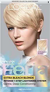 L'OrÃal Paris Feria Multi-Faceted Shimmering Permanent Hair Color, 205 Bleach Blonding (Extra Bleach Blonde), 1 Count kit Hair Dye