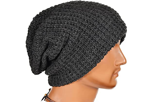 c9c87bc07e2 FORBUSITE Mens Slouchy Long Oversized Beanie Knit Cap for Summer Winter B08
