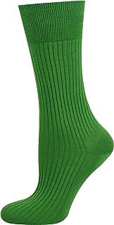 Mysocks, 100% mercerizado de algodón egipcio calcetines lisos Verde