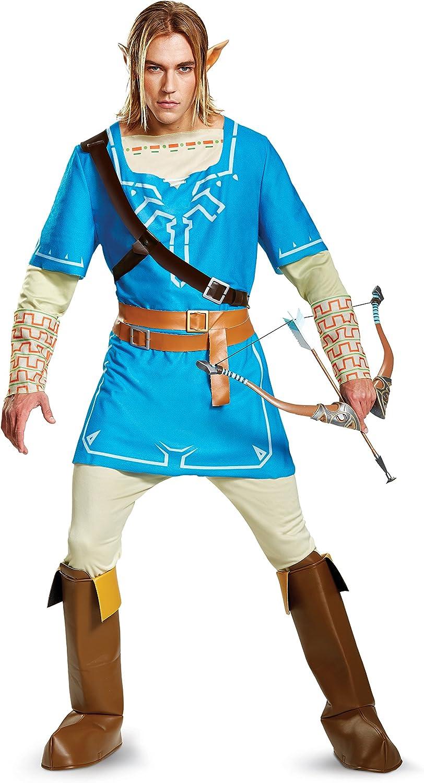 ofreciendo 100% Legend Legend Legend of Zelda Link Breath of the Wild Mens Deluxe Fancy dress costume Medium  Venta barata