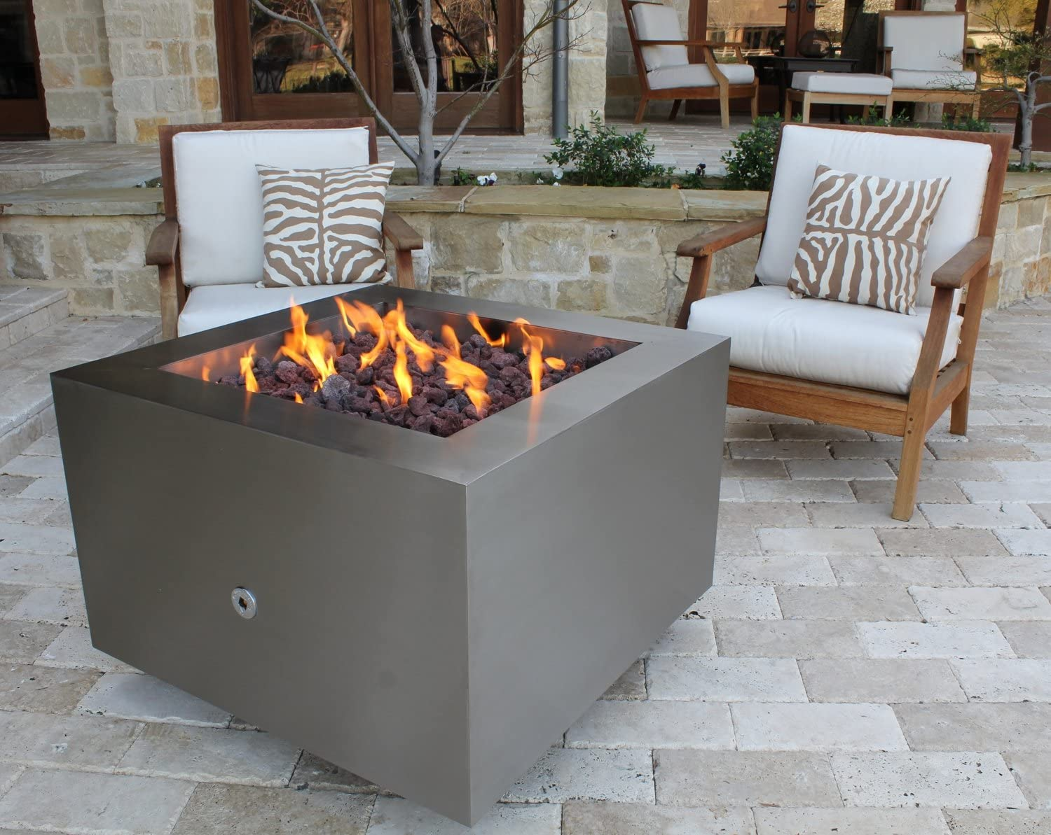Amazon Com Bentintoshape 35 Stainless Steel Fire Pit Hidden Tank Configuration Home Kitchen