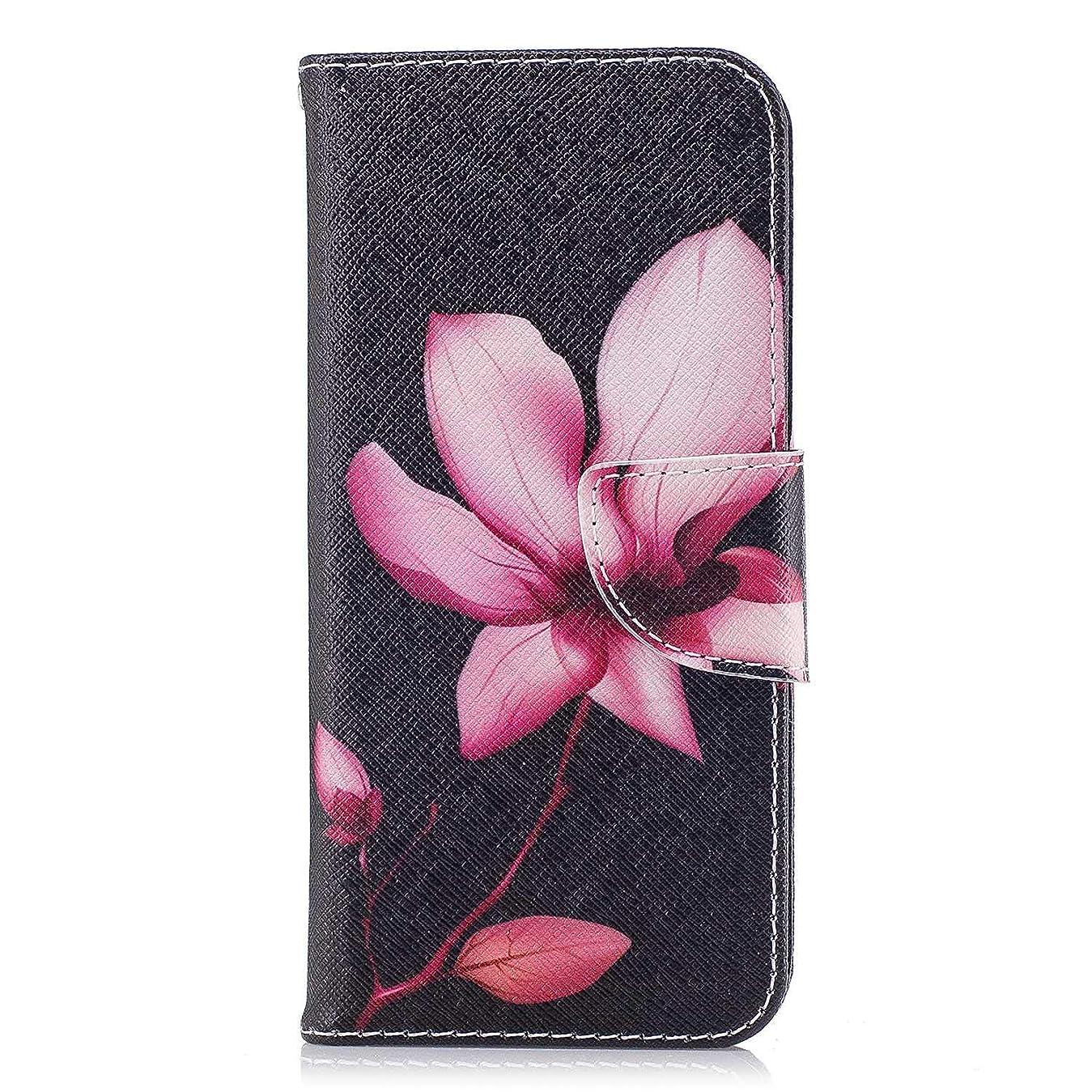 関係する研究倉庫OMATENTI Galaxy S9 ケース, ファッション人気 PUレザー 手帳 軽量 電話ケース 耐衝撃性 落下防止 薄型 スマホケースザー 付きスタンド機能, マグネット開閉式 そしてカード収納 Galaxy S9 用 Case Cover, 花