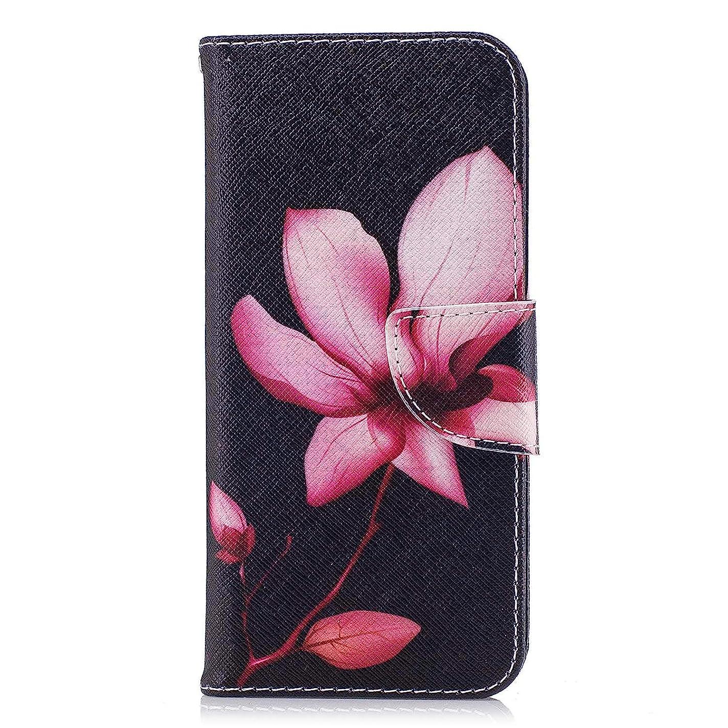 電気陽性シャー花弁OMATENTI Galaxy S9 ケース, ファッション人気 PUレザー 手帳 軽量 電話ケース 耐衝撃性 落下防止 薄型 スマホケースザー 付きスタンド機能, マグネット開閉式 そしてカード収納 Galaxy S9 用 Case Cover, 花