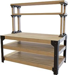 2x4basics 90164 Custom Work Bench and Shelving Storage System, Black