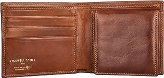 Maxwell Scott® personalizzato di lusso in pelle italiana uomo Bifold portafoglio con tasca portamonete (Ticciano), Classic...