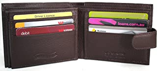 florentino Men's RFID Security Lined Quality Full Grain Cow Hide Leather Wallet. Style No: 11004 (Brown)