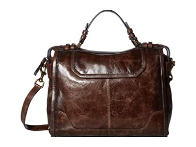 Frye Mel Satchel (Dark Brown) Handbags