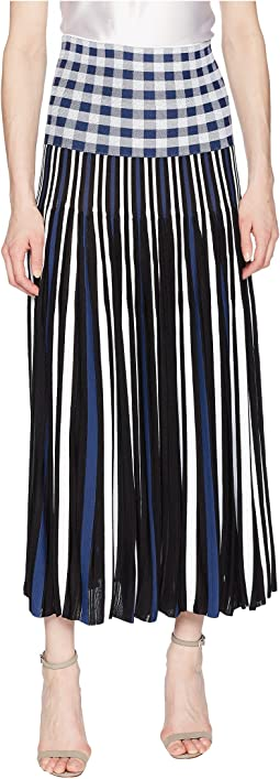 Vichy Plaid Pleats Skirt