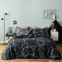black and white marble bedding