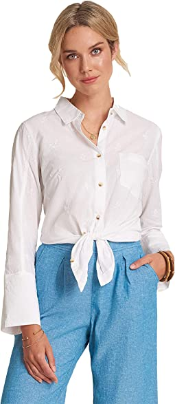 Cindy Shirt - Embroidered Flowers